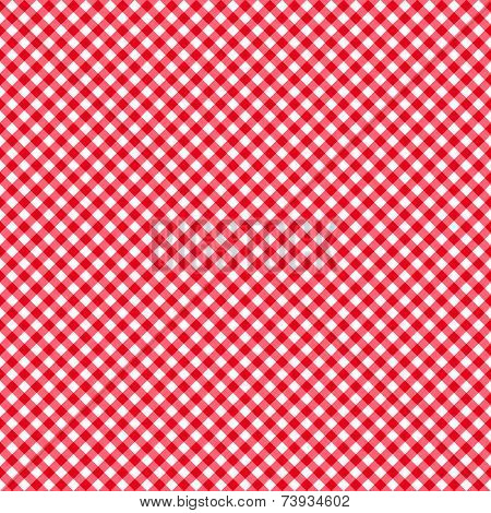 Checkered Red And White Abstract Seamless Pattern Eps10