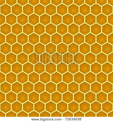 Bee Honeycomb Colorful Seamless Pattern Eps10