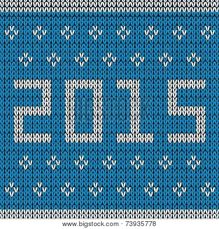 New year knitted background