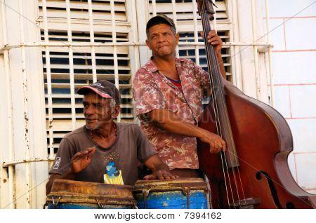 Street Traditional Musicians In Trinidad, Cuba. Oct 2008