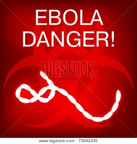 Ebola Virus in Africa. Vector Illustration