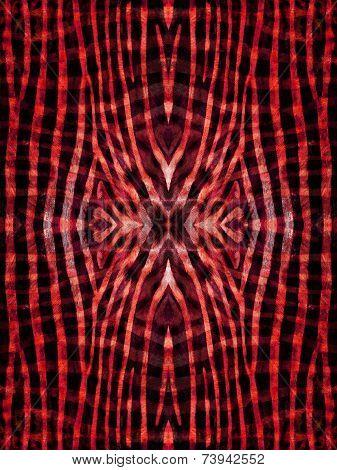 Kaleidoscope Zebra Skin Pattern
