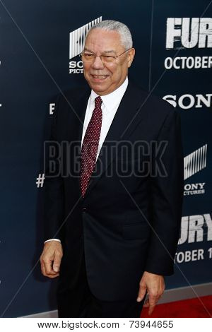 NEW YORK-OCT 15: General Colin Powell attends the world premiere of