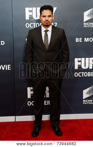 NEW YORK-OCT 15: Actor Michael Pena attends the world premiere of