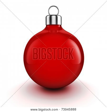 3d Chritmas ball ornaments on white background