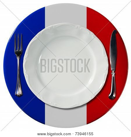 French Cuisine - Plate And Cutlery