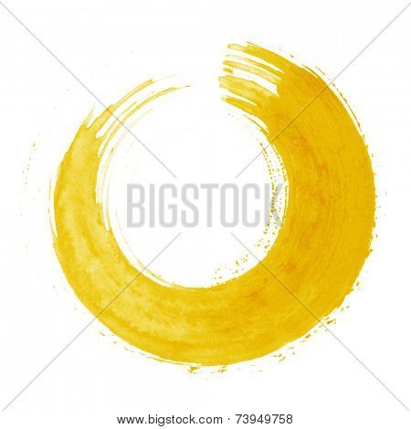 Round yellow brush stroke