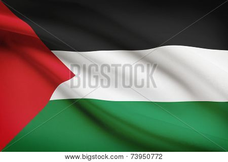 Flag Blowing In The Wind Series - Palestine