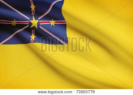 Flag Blowing In The Wind Series - Niue