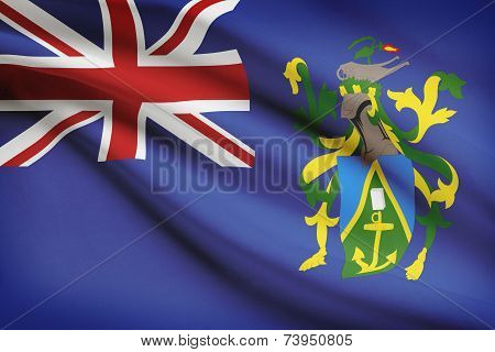 Flag Blowing In The Wind Series - Pitcairn Island