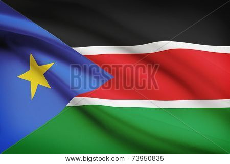 Flag Blowing In The Wind Series - South Sudan