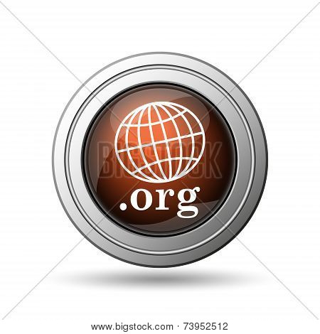 Globe and .org Icon