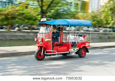 Tuk-tuk Moto Taxi In Chang Mai, Thailand