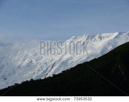 Misty Annapurna Iv Himalayan Peak During Monsoon
