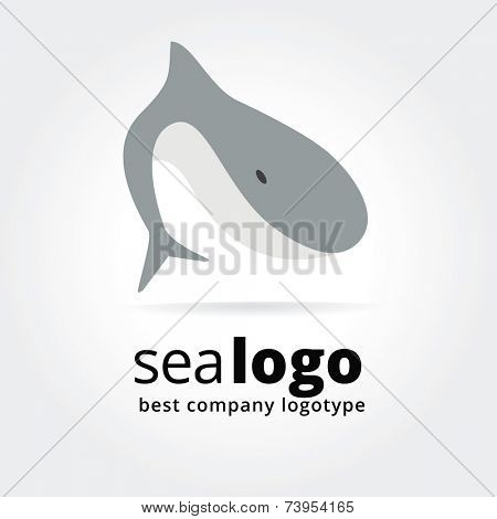 Abstract fish logo icon concept isolated on white background for business design. Key ideas is food, fish, cook, seafood, restaurant, design. Concept for corporate identity and branding. Stock vector.