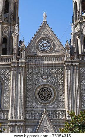 Church of St. Anna. Montesano sulla Marcellana. Campania. Italy.