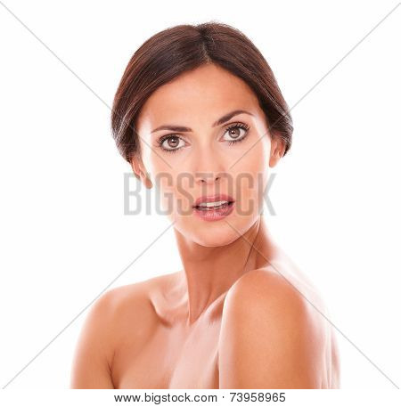 Adult Hispanic Woman Asking A Question