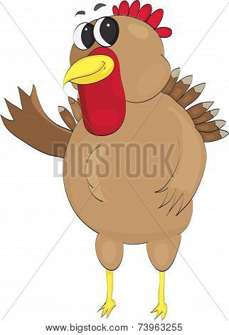 Happy Turkey Waving