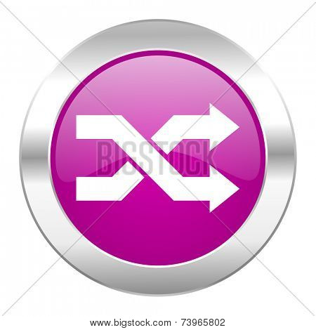 aleatory violet circle chrome web icon isolated
