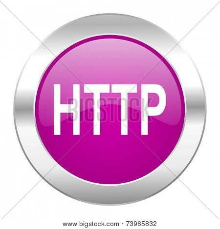 http violet circle chrome web icon isolated