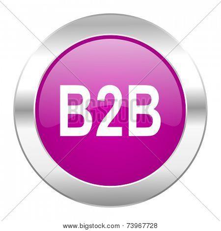 b2b violet circle chrome web icon isolated