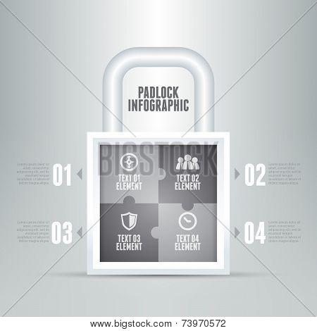Padlock Infographic