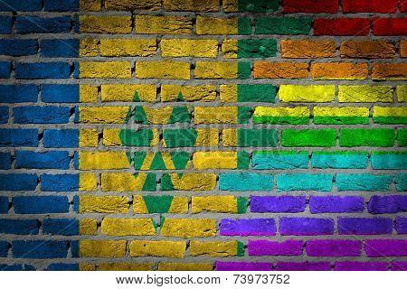 Dark Brick Wall - Lgbt Rights - Saint Vincent And The Grenadines