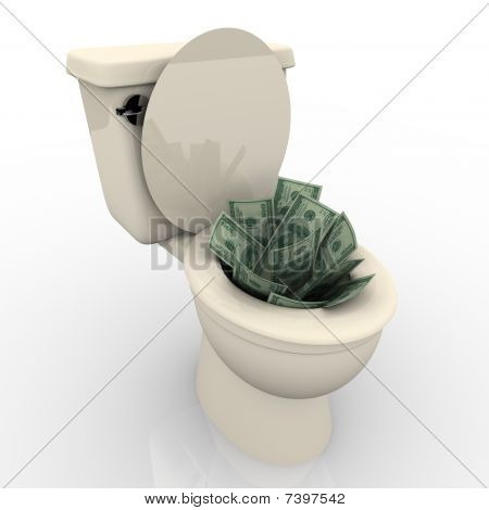 Flushing Money Down The Toilet