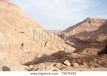 Vacation In Judean Desert Landscape Of Israel