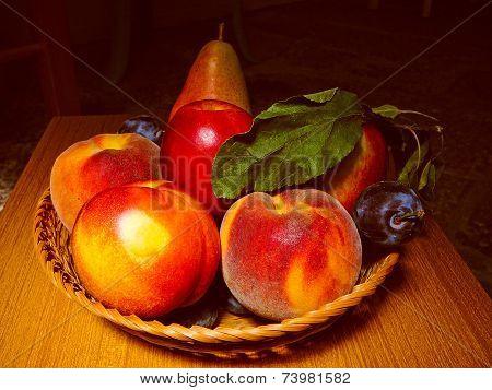 Retro Look Still Life Fruit