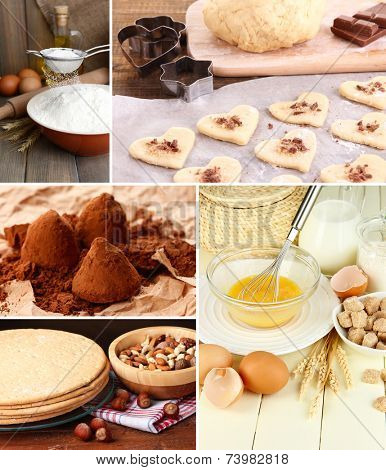 Confectionery theme collage