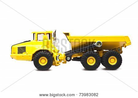 Toy Yellow Dumper Truck