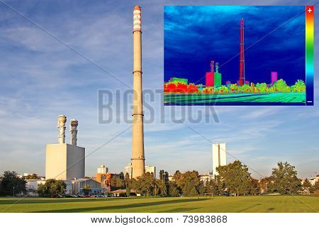 Thermovision Image Heating Chimney