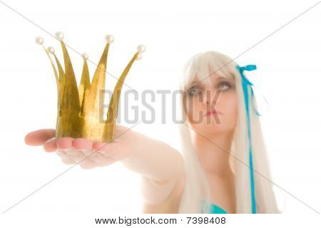 Extraterrestrial Queen With Crown (focus On Crown)