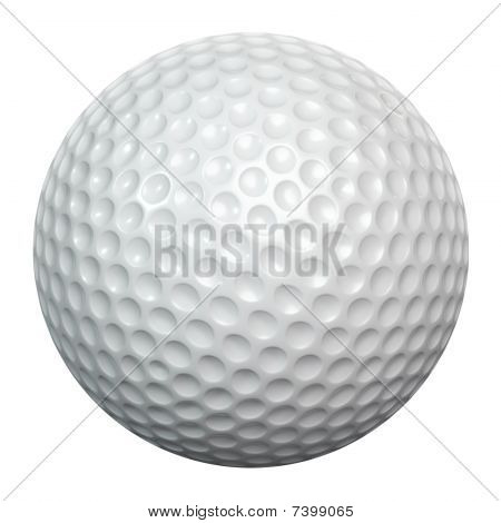 Golfballisolated