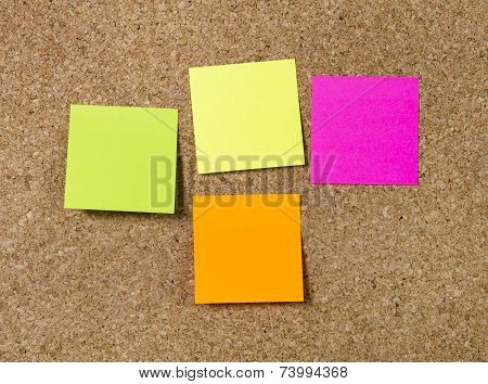 New Year Blank Resolutions Post It Notes With Copy Space