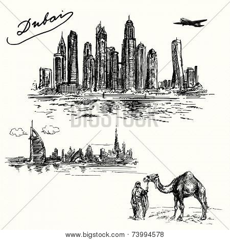 Dubai - hand drawn set