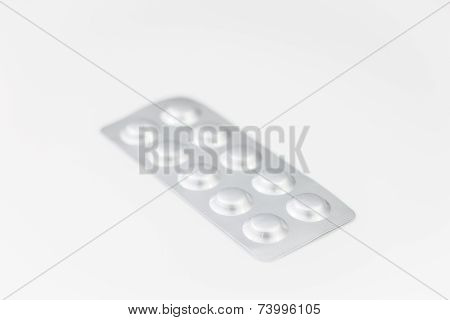 Pack Of Medicine Isolated On White Background