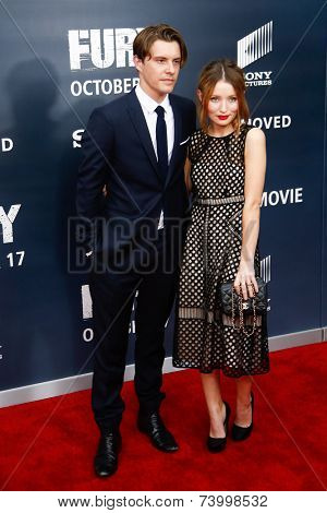 WASHINGTON, DC-OCT 15: Actor Xavier Samuel (L) and Emily Browning attend the world premiere of