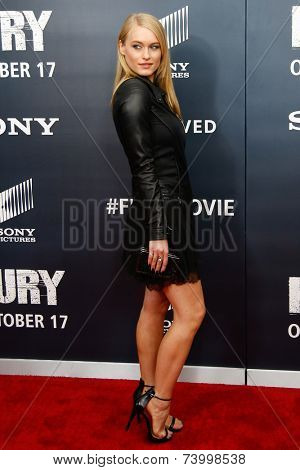 NEW YORK-OCT 15: Actress Leven Rambin attends the world premiere of