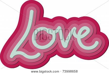 Valentine 3d Love Word
