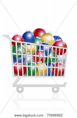 Christmas Balls Sale Buy Trolley