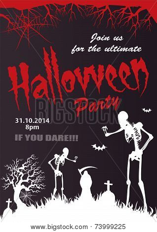 Halloween Vector-party invitation