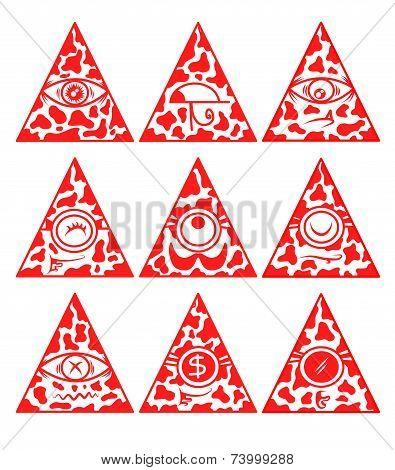 Illuminati vector set