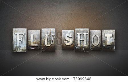 Flu Shot Letterpress
