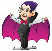 image of dracula  - Dracula On Isolated White Cartoon Editable  - JPG