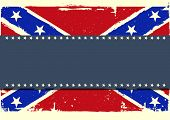 image of confederate flag  - detailed illustration of a patriotic confederate flag on a grungy background - JPG