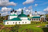 stock photo of paysage  - Ancient Russian churches in Suzdal - JPG