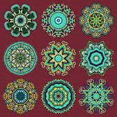 foto of doilies  - Circle lace ornament - JPG