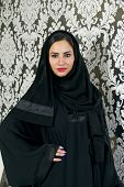 stock photo of arabian  - Beautiful Confident Arabian Woman standing with confidence,  Confident arabian woman - JPG